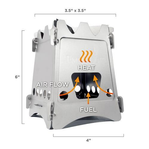 Emberlit Stainless steel Stove dimension