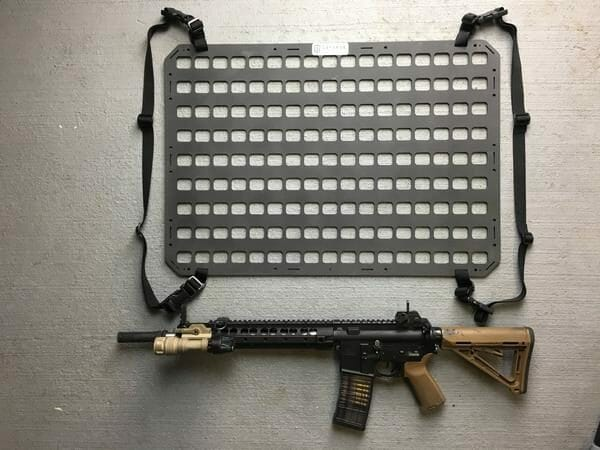 tactical under the seat rifle mount