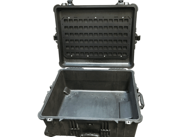 empty case with molle panel attached