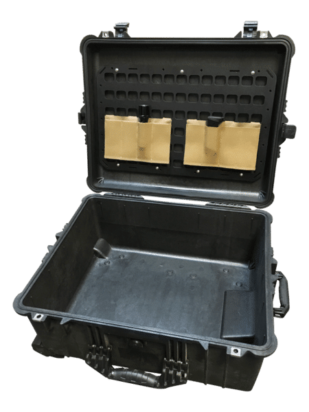 empty Case with molle panel and 2 gear items