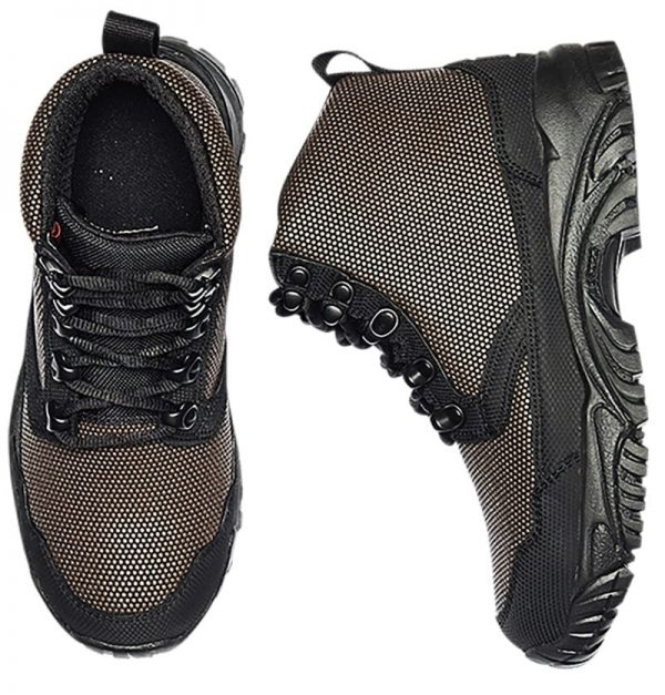 Hiking Boots 6 inch, top and side view Altai gear