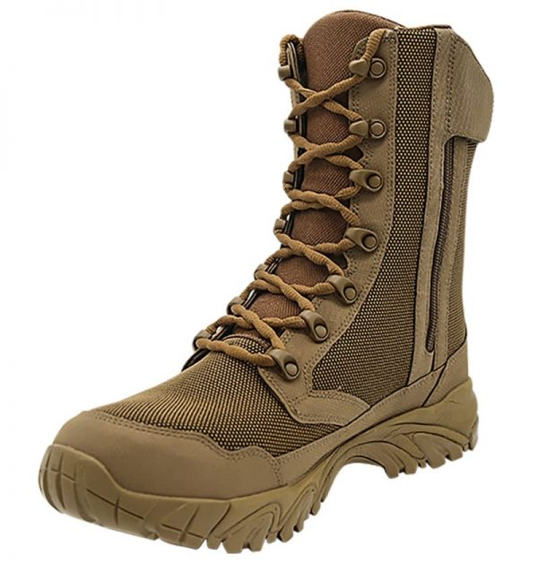 """Zip up hunting boots 8"""" brown inner toe with zipper altai Gear"""