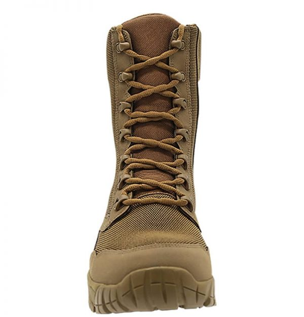 """Zip up hunting boots 8"""" brown front laces Altai Gear"""