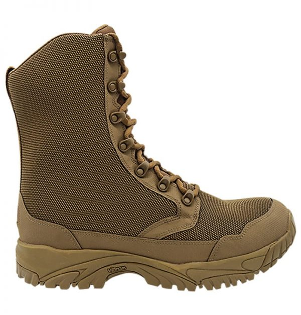 """Zip up hunting boots 8"""" brown outer side Altai Gear"""