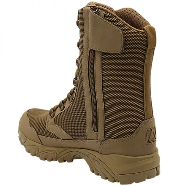 "Zip up hunting boots 8"" brown inner heel with zipper altai Gear"