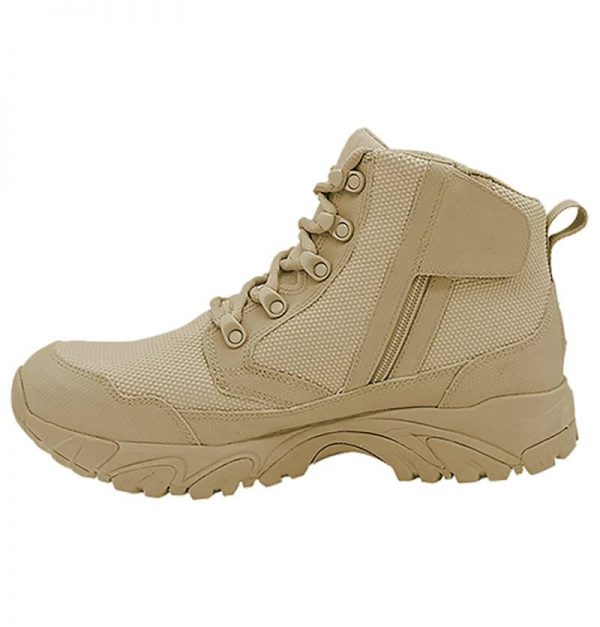 "Zip up work boots 6"" tan inner side with zipper altai Gear"