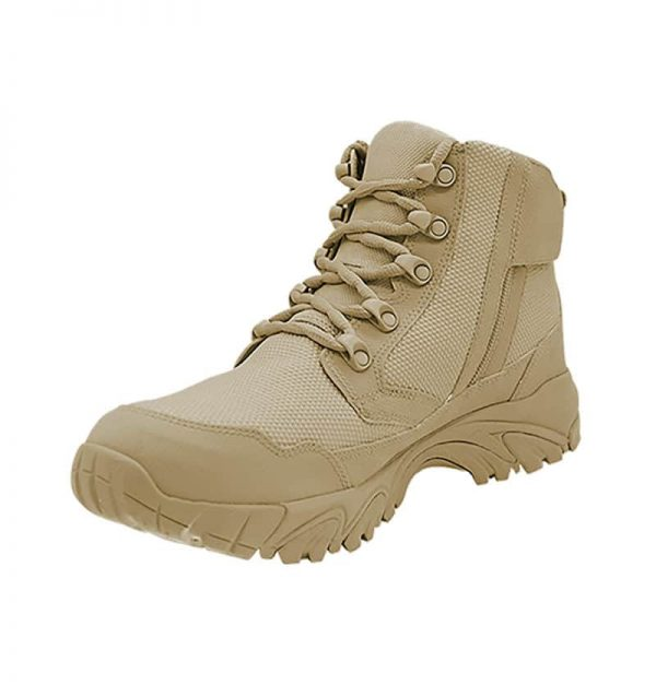 "Zip up work boots 6"" tan inner toe with zipper altai Gear"