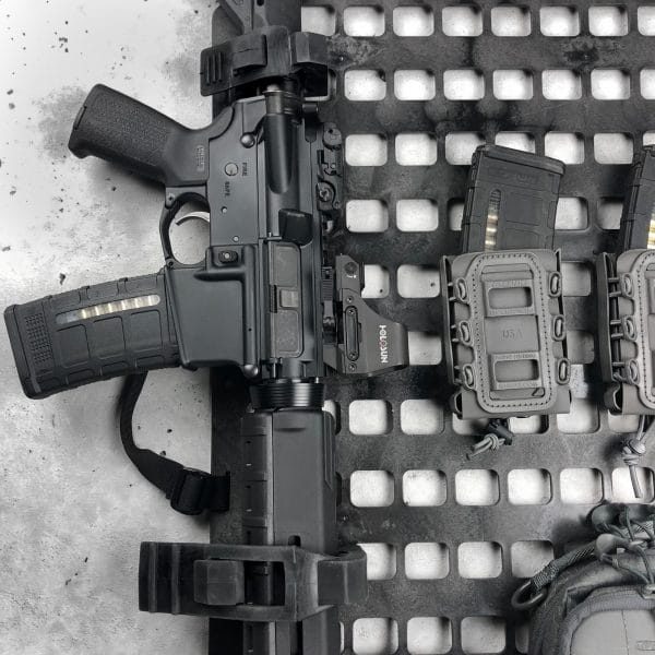 Rifle mount for molle panel