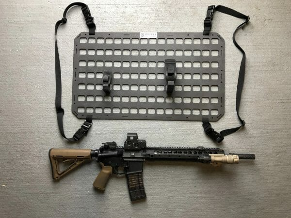 under the seat rifle mounting system