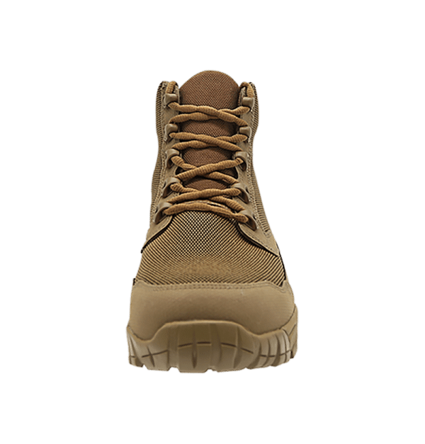 "Backpacking Boots Brown 6"" show laces Altai gear"