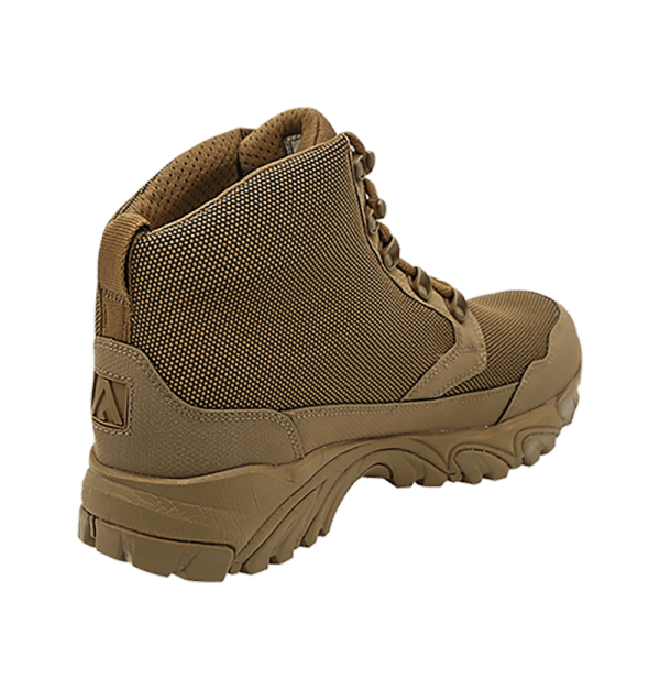 "Backpacking Boots Brown 6"" inner heel view Altai gear"