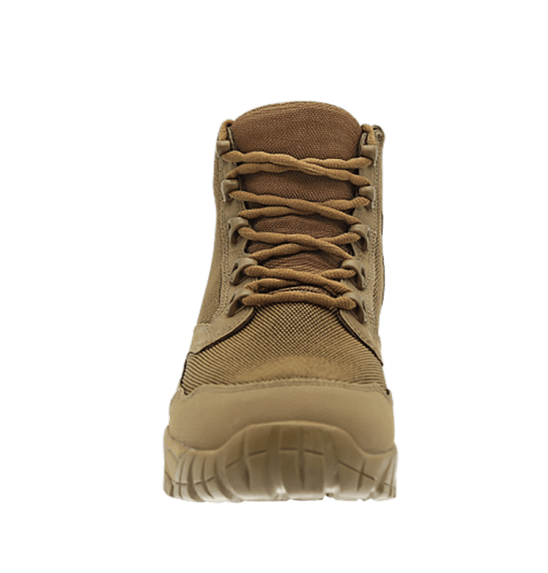 """Zip up hiking boots 6"""" Brown front laces altai Gear"""