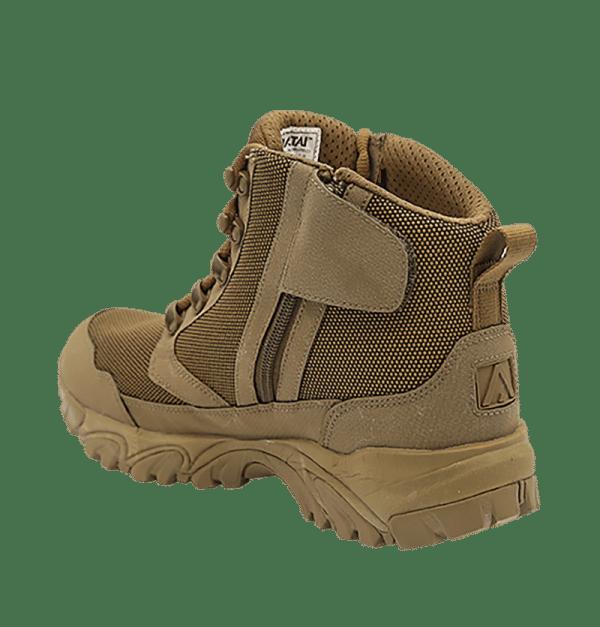 """Zip up hiking boots 6"""" Brown inner heel altai Gear"""