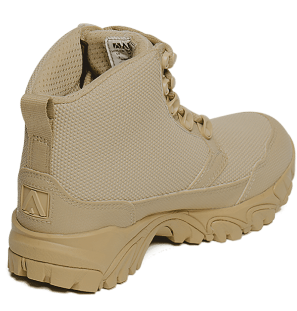 "Work Boots tan 6"" inner heel view Altai gear"