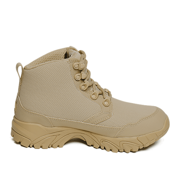 "Work Boots tan 6"" inner side view Altai gear"