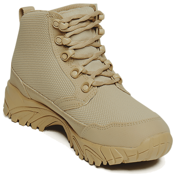 "Work Boots tan 6"" inner toe view Altai gear"