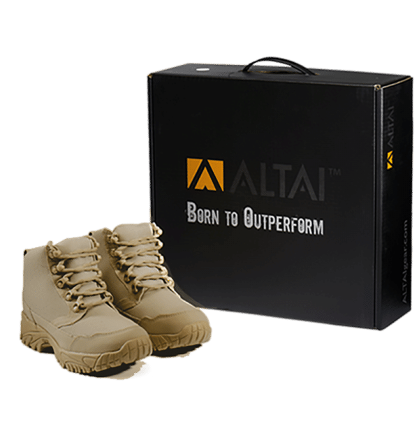 "Work Boots tan 6"" package Altai gear"