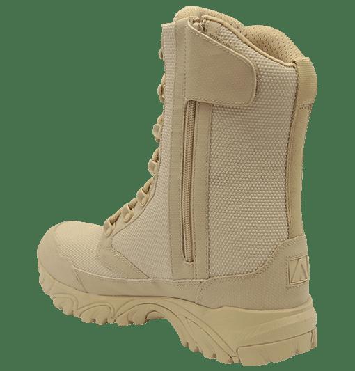 """Zip up combat boots 8"""" tan inner heel with zipper altai Gear"""