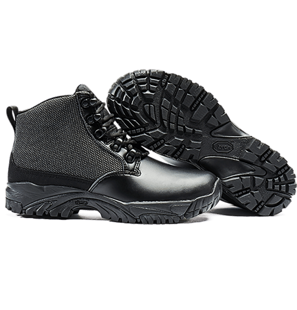 Uniform Boots Black leather side view and sole Altai gear