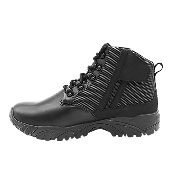 "Black side zip uniform boots 6"" inner side with zipper Altai gear"