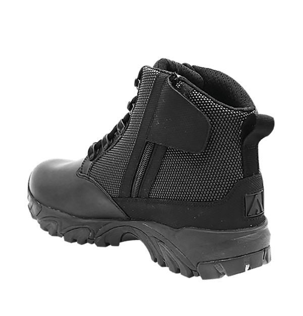 "Black side zip uniform boots 6"" inner heel with zipper Altai gear"