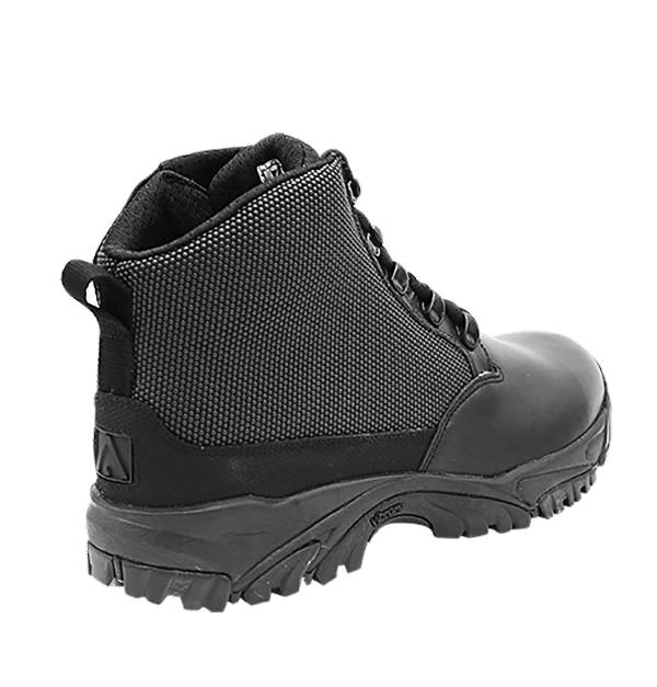 "Black side zip uniform boots 6"" outer heel Altai gear"