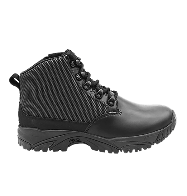 "Black side zip uniform boots 6"" outer side Altai gear"