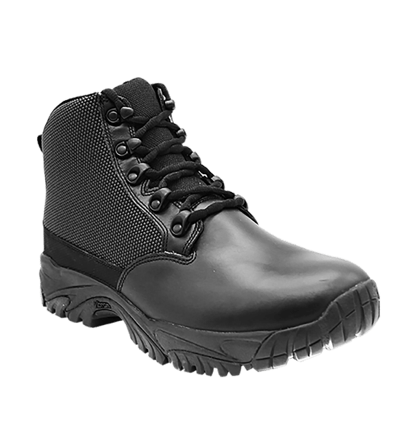 "Black side zip uniform boots 6"" outer toe with leather Altai gear"
