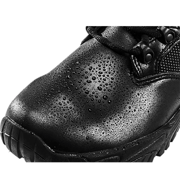 "Side Zip black tactical boots 8"" black leather toe with water altai Gear"