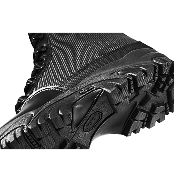 "Side Zip black tactical boots 8"" black side of sole altai Gear"