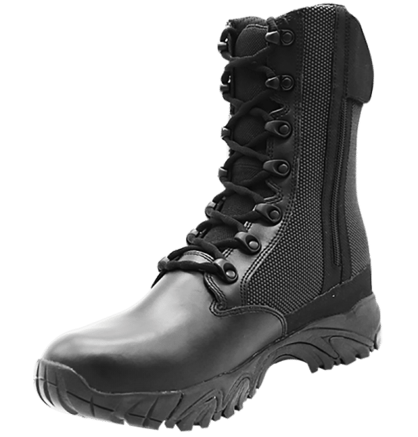 "Side Zip black tactical boots 8"" inner leather toe with zipper altai Gear"