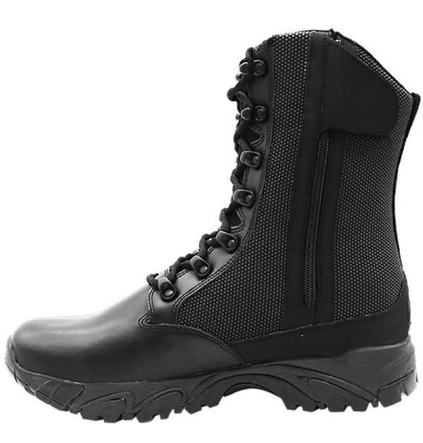"Side Zip black tactical boots 8"" inner leather side with zipper altai Gear"