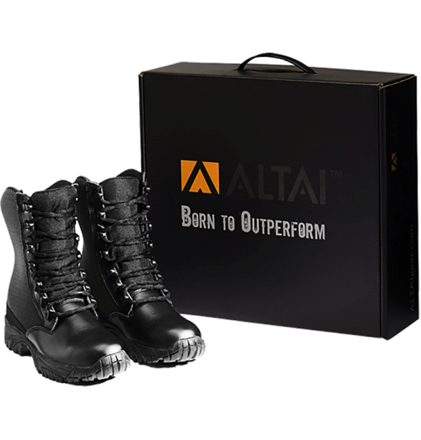 "Side Zip black tactical boots 8"" black both Pairs with package altai Gear"