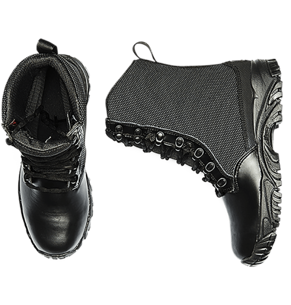 Leather Tactical Boots top and side view Altai gear