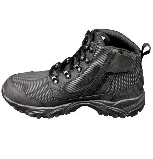 "Black Zip up tactical boots 6"" inner side with zipper altai Gear"
