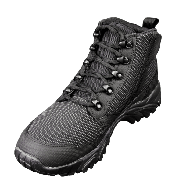 "Black Zip up tactical boots 6"" inner toe with zipper altai Gear"