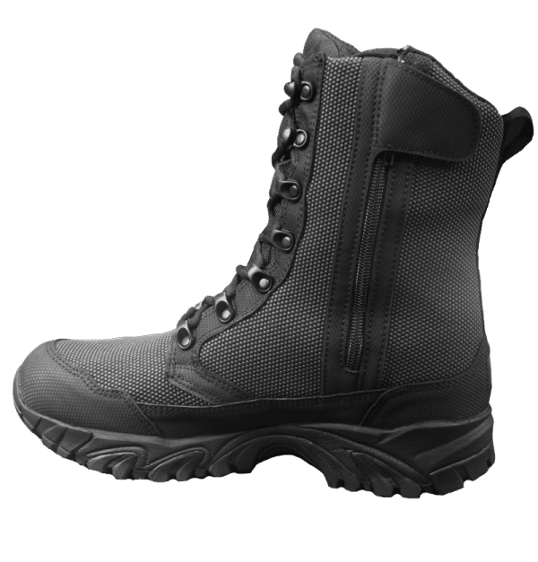 "Zip up tactical boots 8"" black inner side altai Gear"