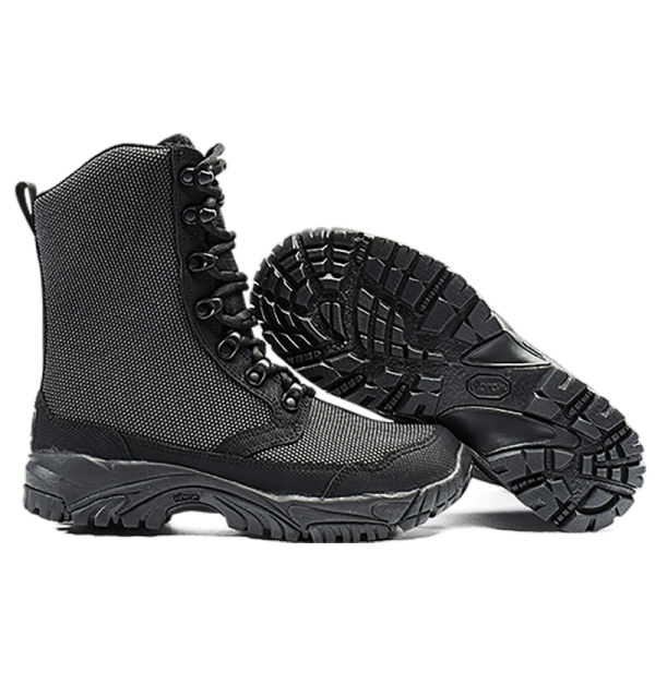 Tactical Boots Black Side view and Bottom of Sole Altai gear