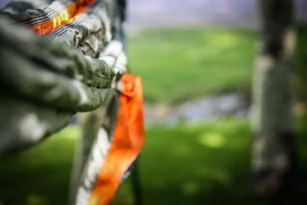 Ember Madera Hammocks grey and orange up close side