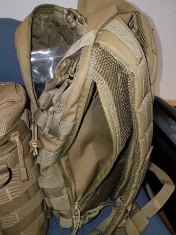 ambush backpack opened