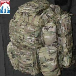Long Range ruck sack worn