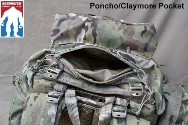 Long Range ruck Sack outside lid pocket