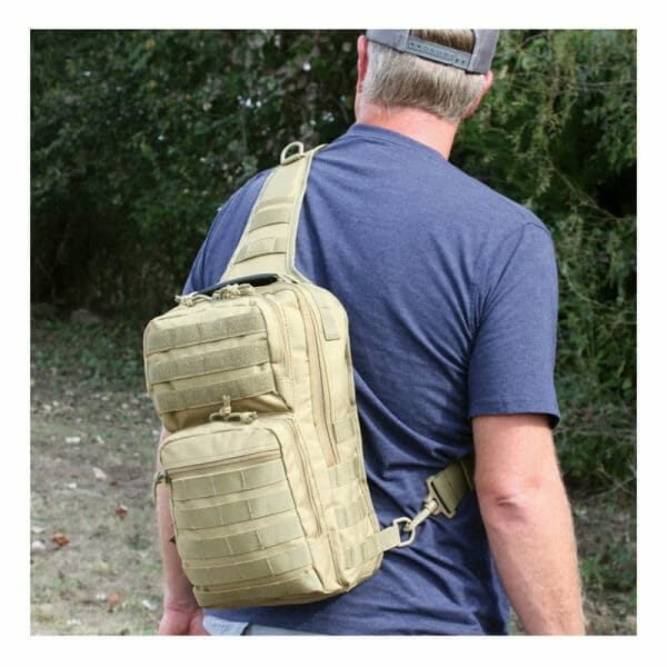 Rover sling pack man wearing
