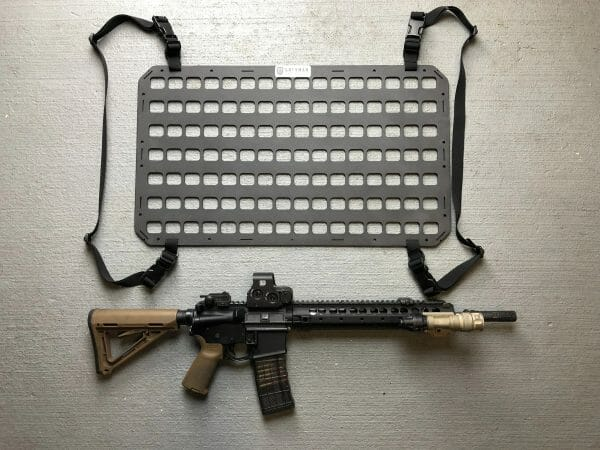27.75 ridged molle panel with mounting straps