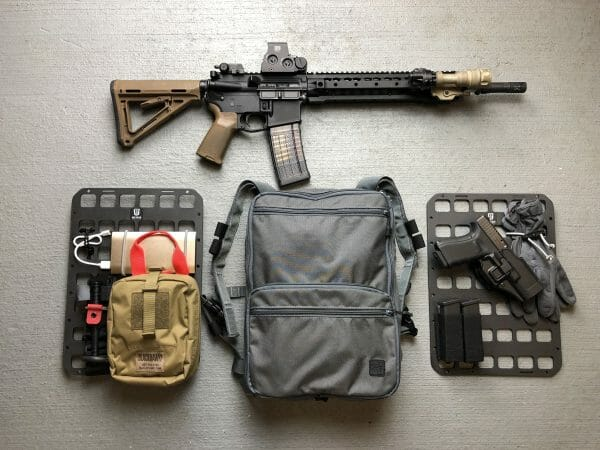 10 X 14 RMP Molle panel for backpack insert 2 panel set up