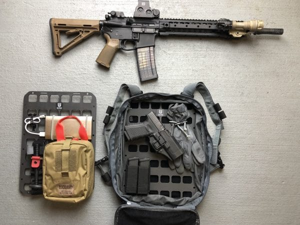 10 X 14 RMP Molle panel for backpack insert molle panel out of bag