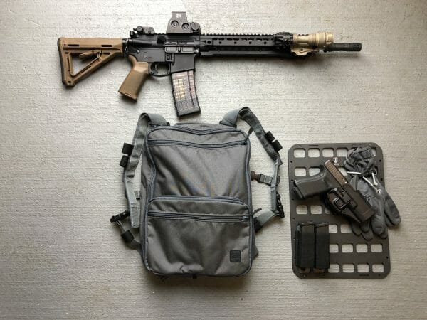 10 X 14 RMP Molle panel for backpack insert with ar 15