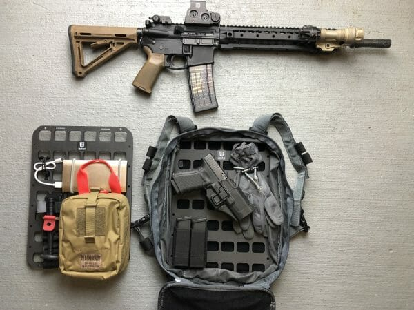 10 x 14 inches rmp molle panel for backpack medical set up edc