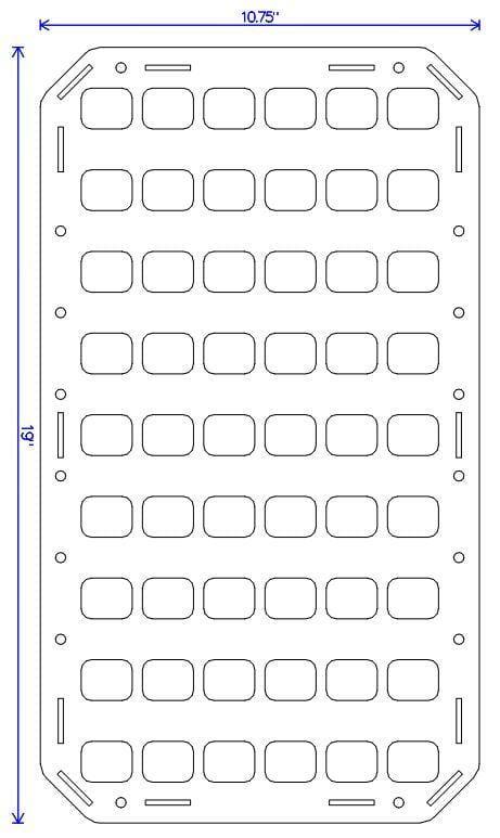 10.75 X 19 RMP molle panel insert (4)