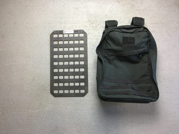 10.75 X 19 RMP molle panel insert with back pack
